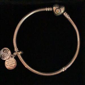Beautiful Pandora Bracelet with Christmas Charm